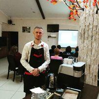 Бариста - обучаю тонкостям приготовления кофе - чая