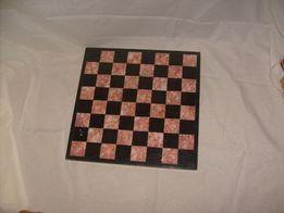 Marmurowa szachownica 34,5 x 34,5 cm