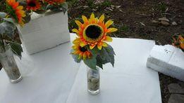 kwiat sztuczny w szkle,