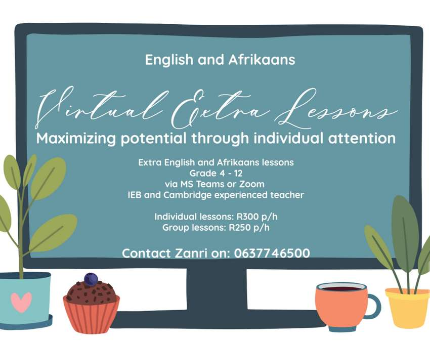Extra English and Afrikaans Lessons