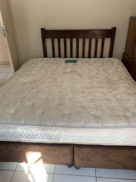 King size mattress with box spring
