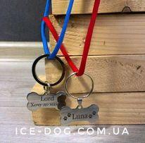 Адресники для собак жетоны с гравировкой