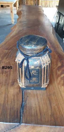 Handmade Decorative Rice Storage Box (300mm high)