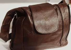 Leather flip bag