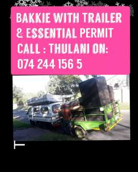Bakkie and truck for HIRE