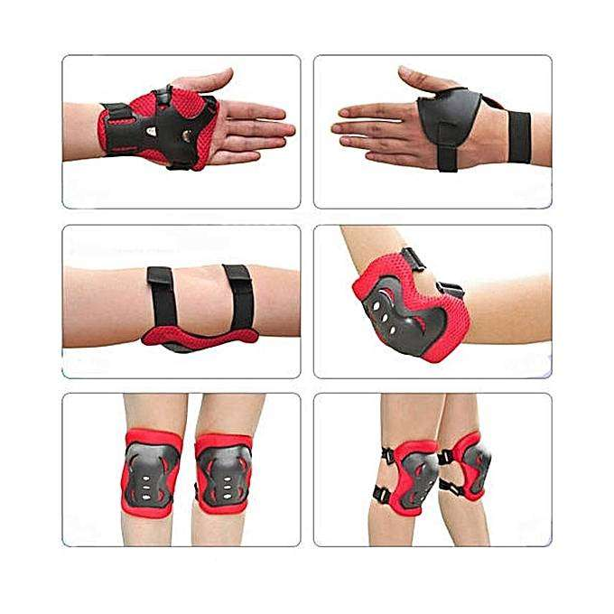 Fashion Kids Child Skating Support Protection Gear Set Wrist Guard Elb 0