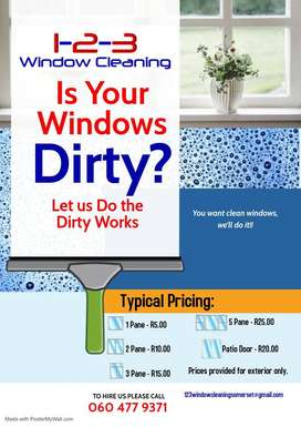 1-2-3 Window Cleaning Services