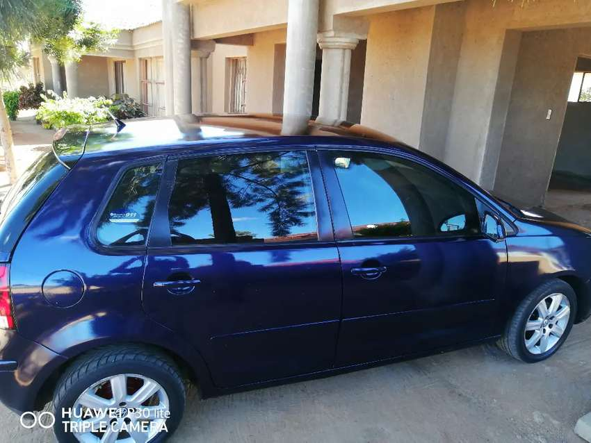A 2008 polo, blue in colour and in cood condition