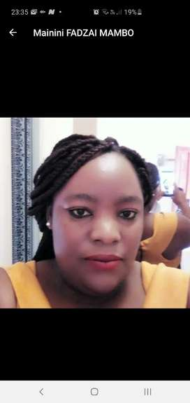 My name is Fadzai Mamboining aged 33 looking  for a job as a nanny . .