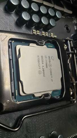 i7 7700k CPU with Intel cooler