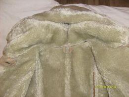 Дублёнка женская тёплая на меху с капюшоном куртка парка