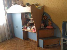 Детская кровать стол трансформер