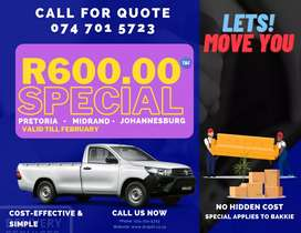 Furniture Removal Company (R600.00)