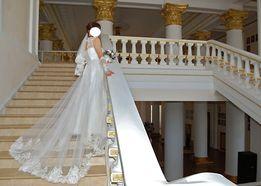 Продам свадебное платье + перчатки в подарок