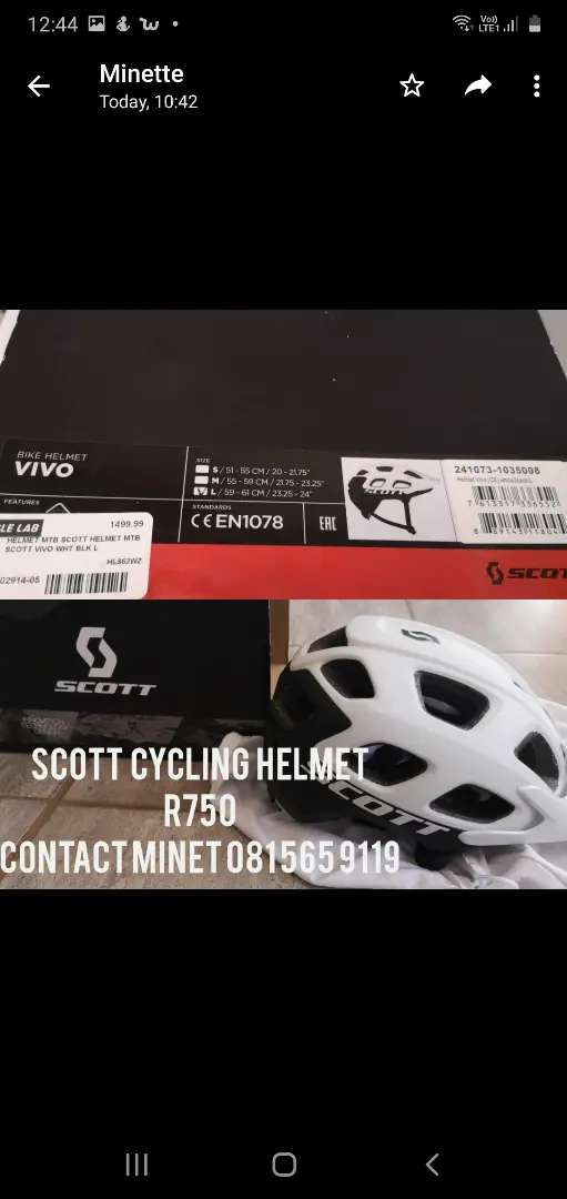 Scott cycling helmet 0