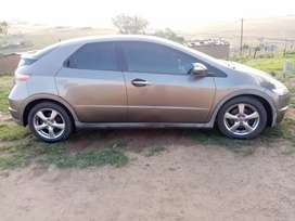 Honda civic 1.8 i vtec 2007 5 door. Spare tyre is available.