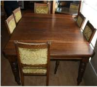 Image of Oak Dining Room Table and 6 Chairs