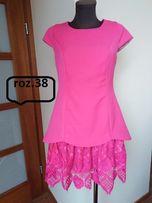 Sukienka amarantowa 38