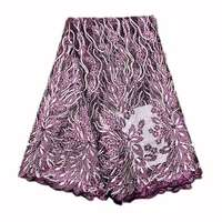 Net stoned lace,magenta color (5 yards) 0