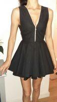 Czarna piękna sukienka zip gole plecy xs Jones&Jones