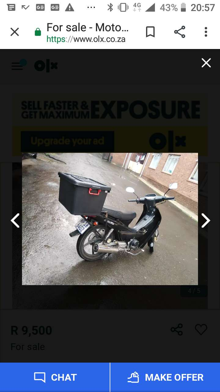 Hi guys  looking for motorbike or scooter the engine capacity must 125 0