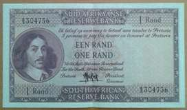 Almost uncirculated 1961 crisp R1 note