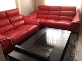 Leather couches & table