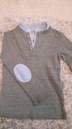 Bluzeczka elegancka z latami na łokciach Zara 104