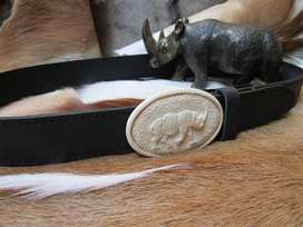 Leather Belt, exotic buckle