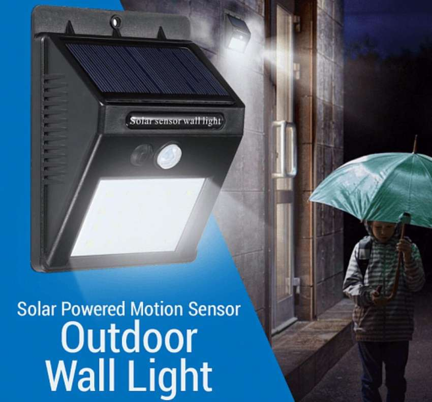 Solar powered motion sensor 0