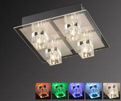 Szklany plafon RGB+G4 OKI LED pilot ! Leuchten Direkt lampa sufitowa