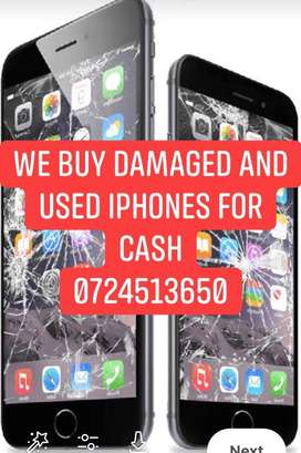 We buy used and cracked iphones for cash