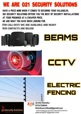 Electric fence installation and cctv