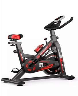 Indoor Sports Exercise Spinning Fitness Bicycle - Red