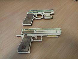 Пистолет резинкострел игрушка фанера дерево подарок