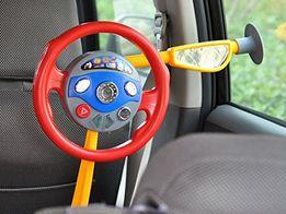Игрушка руль в машину с креплением на стекло, реальные звуки авто