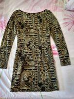 Шикарное нарядное золотое платье фирмы Bedo размер М