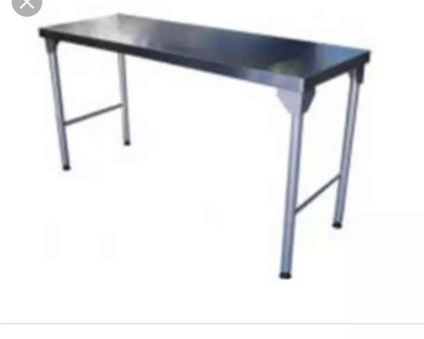 2.3m Stainless Steel tables 0