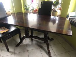Stół jadalnia pokojowy kuchenny mahoń