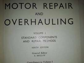 Motor Repair And Overhauling - Volume 1 - Newnes.