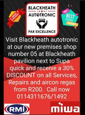 30%DISCOUNT on all Services and Repairs!!! Aircon regas service specia