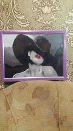 Картина из бисера ручная работа фото рамка декор для дома