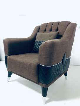 Diamond Single Sofa ( Brown / Grey)