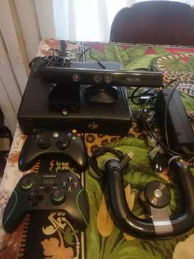 Xbox 360 console with games controls skylndrs kinect
