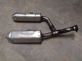 CRF 250/450 double exhaust pipes