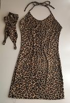 Chilirose Koszula nocna panterkowa print + rękawiczki sukienka 34 xs 3