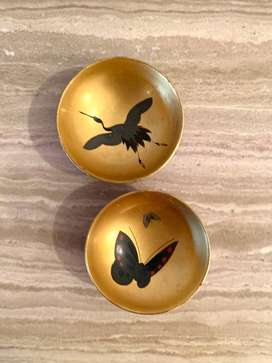 Butterfly and Crane Sake Cup