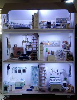 Doll House (barbie, toy, gift, girls, play, miniature, decor)