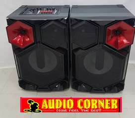 """Lexuco Dj Speakers 15"""" With Amp Ready to play"""