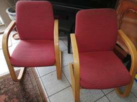 2 x Visitor Office armchairs for sale